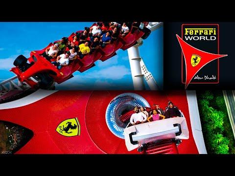 Обзор парка развлечений Феррари Ворлд в Абу Даби ОАЭ / Ferrari World Abu Dhabi All Rides Аттракционы