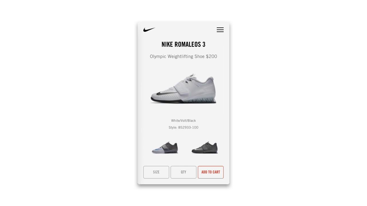 Nike Romaleos 3 mobile concept