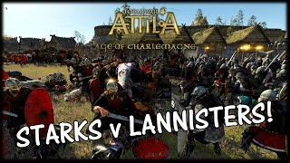 LANNISTER SIEGE INVASION! - Game of Thrones Total War - Starks v Lannisters!