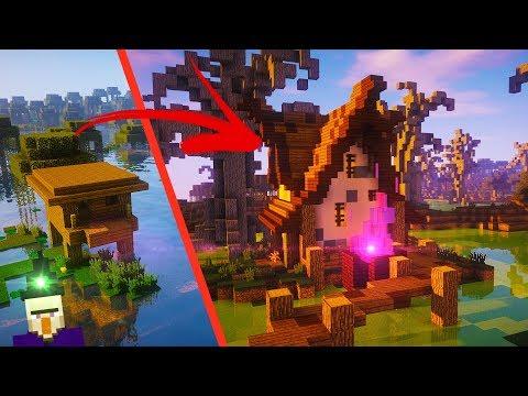 Minecraft Witch Hut Transformation!!   Timelapse