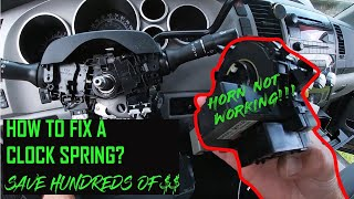 DIY horn fix (replace clock spring) Toyota Tundra