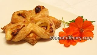 Quick Puff Pastry Flowers Filled with Pastry Cream (Custard) Recipe