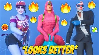 TOP 50 FORTNITE SKINS THAT LOOK BETTER WITH THESE DANCE EMOTES.! (Custom & Leaked Skins)