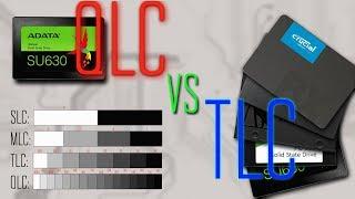ADATA SU630 QLC SSD накопитель против бюджетных TLC накопителей