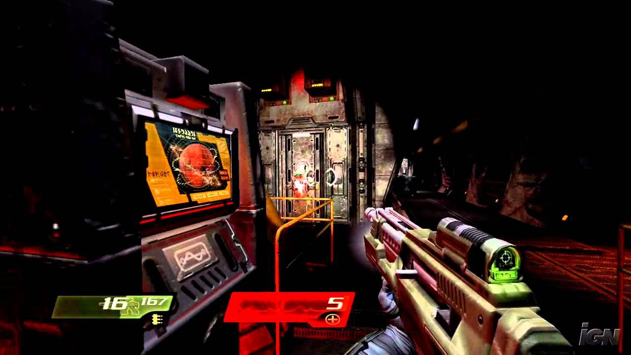 Quake 4 Xbox 360 Gameplay - Dark Hallways (HD) - YouTube