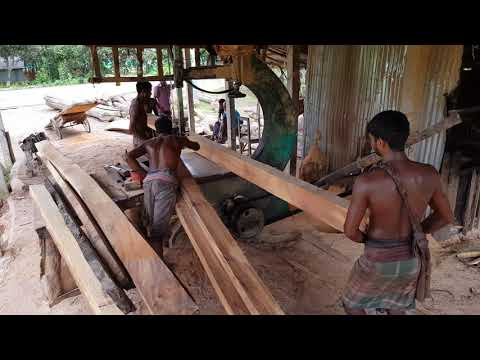 Super Fast Wood Cutting by Skilled Craftsman in World।Wood Cutting Dangerous Small Sawmill at World