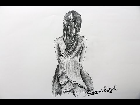 Easily Draw A Girl Full Body Pencil Sketch Youtube