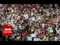 250,000 Attend Anti Trump Protests In London - Aerial Footage