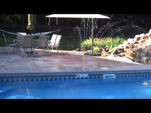 Crown Jet over swimming pool
