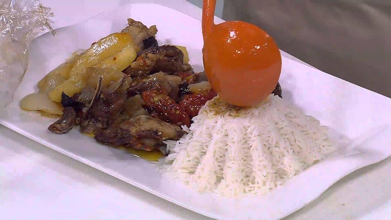 دوش ضاني مع الخضار - لازانيا خضراء مع صوص مكعبات اللحم بالجزر : طبخة ونص حلقة كاملة