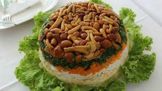 #Рецепт необычного салата с корейской морковкой и грибами. Вкусно и Оригинально, готовим дома