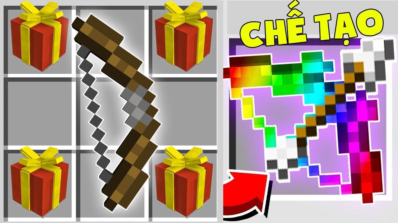 T Gaming Thử Thách Chế Tạo Hộp Quà Vip Nhất Minecraft ** Noob Sở Hữu Cung Siêu Vip ??