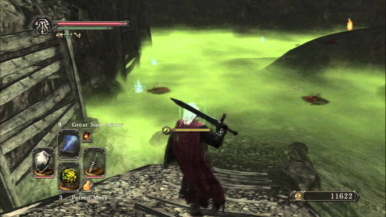 Dark Souls Ii Harvest Valley Poison Mist Area Items Small Smooth Silky Stone Anite Chunk Etc