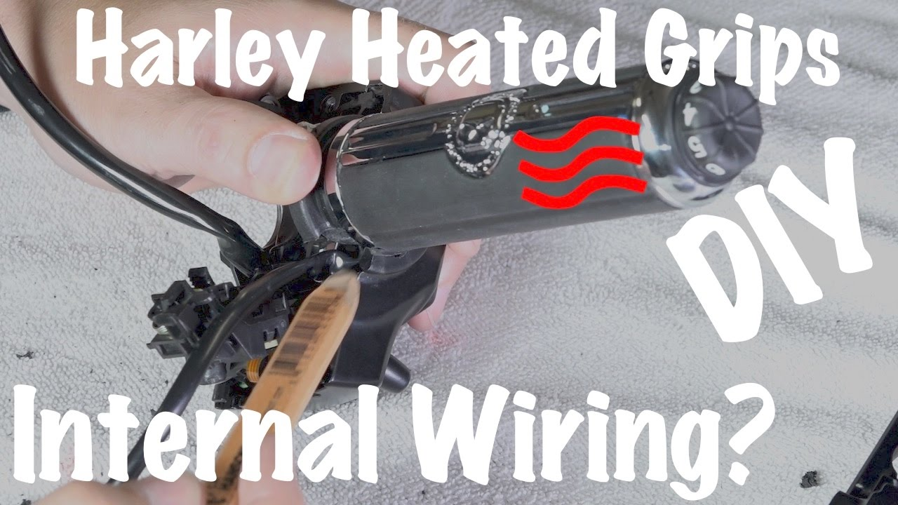 medium resolution of harley brand heated grips internal wire inside handlebars custom diy youtube