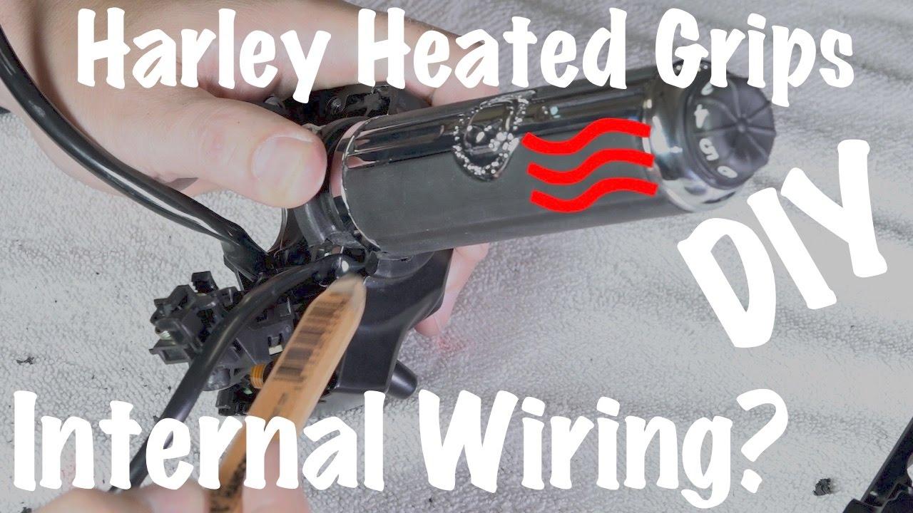 Harley Brand Heated Grips Internal Wire Inside HandlebarsCustom DIY  YouTube