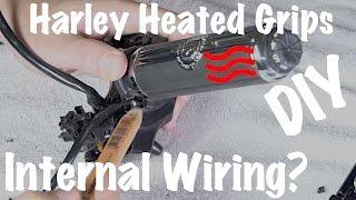 Harley Brand Heated Grips Internal Wire Inside Handlebars-Custom DIY -  YouTube | Harley Heated Grips Wiring Diagram 2014 |  | YouTube