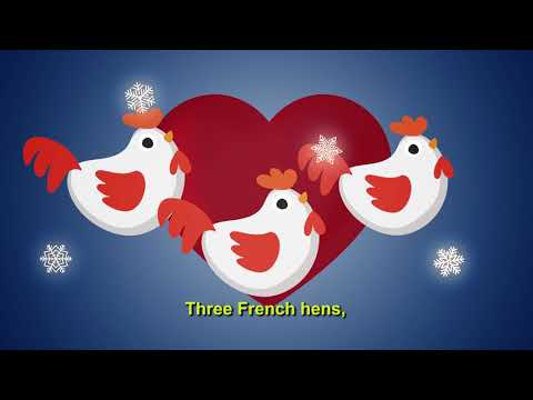 Karaoke 12 days of Christmas Lyrics Xmas Carols Song for Children, Kids Sing a long