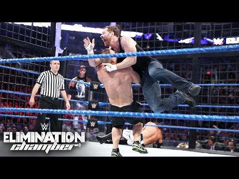 WWE Title competitors clash while surrounded by unforgiving steel: Elimination Chamber 2017