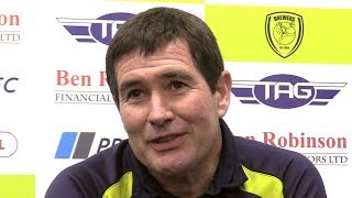 Burton 0-1 Manchester City (Agg 0-10) - Nigel Clough Full Post Match Press Conference - Carabao Cup