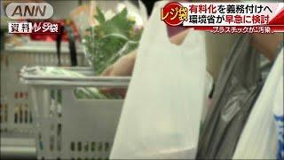 レジ袋有料化を義務付けへ 海洋汚染問題で環境省(18/10/12) thumbnail