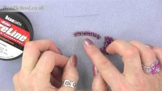 Beadschool Tutorial - Techniques: Herringbone Stitch from a Ladder Stitch start