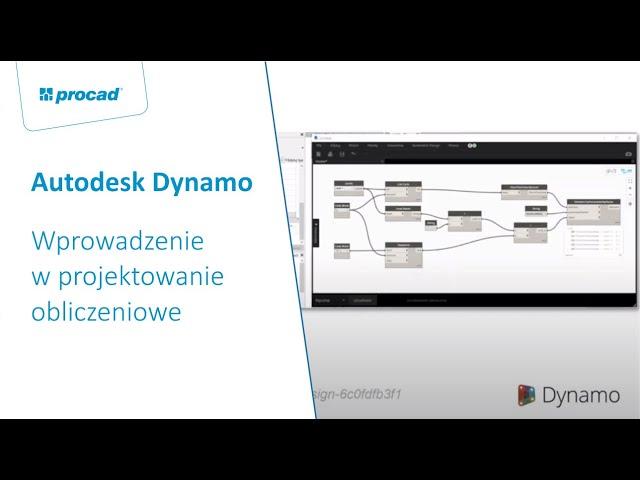 Dynamo – Wprowadzenie w projektowanie obliczeniowe