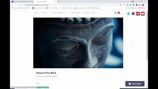 Walk-through my website and explaining what I do