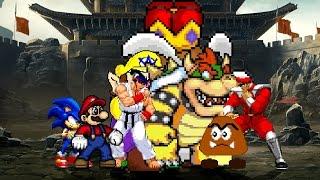 Team Super Mario vs Team Goomba 4v4 Patch MUGEN 1.1 Battle!!!