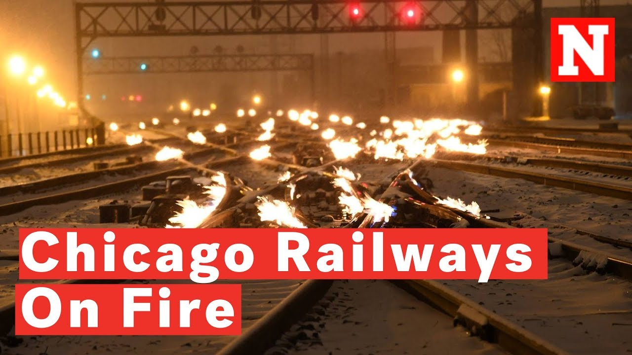 Chicago Train Operator Sets Railway Lines On Fire