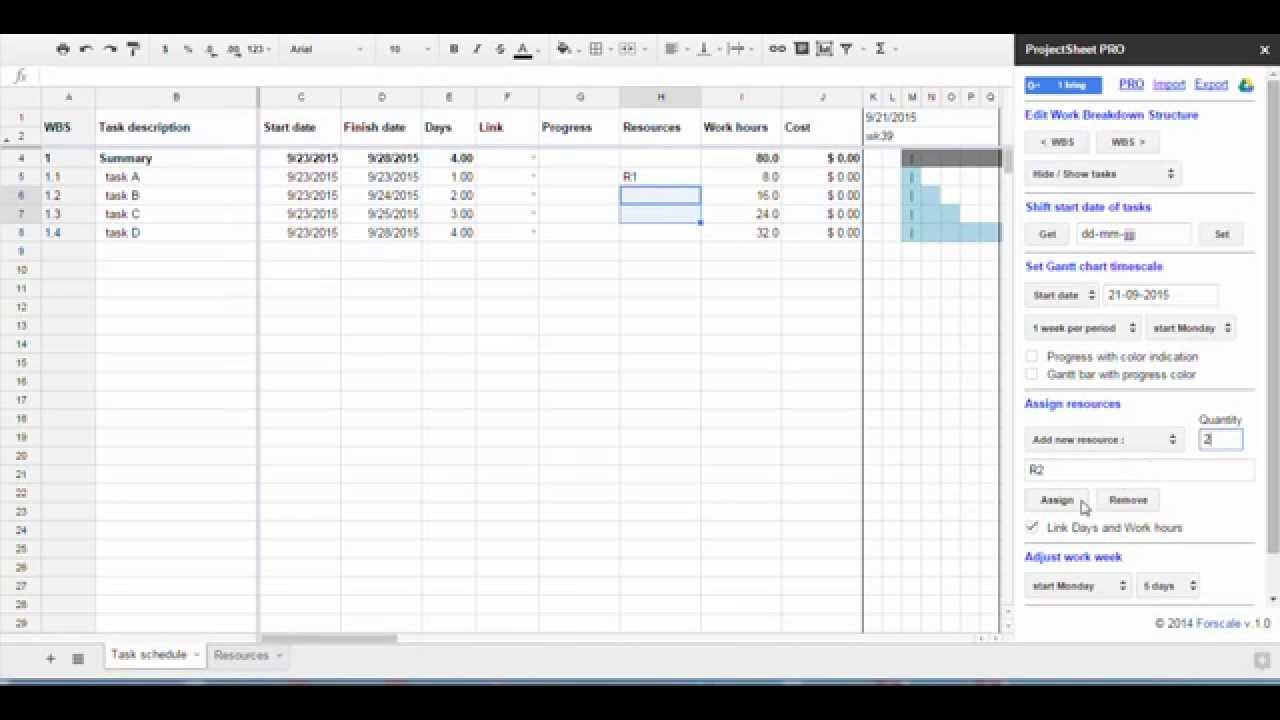 Project Management Using Google Sheets For Assigning Resources And - Google sheets for project management
