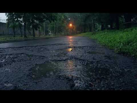 Slow Rain on Broken Road Indonesia | Calm Rain Drops | Help