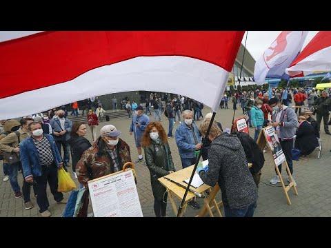 Новые протесты против властей прошли в Минске