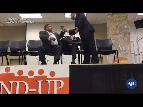 VIDEO: heated debate between Michael Julian Bond and Courtney English at forum