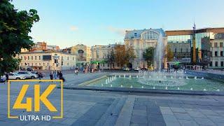 Trip to Kharkiv 4K UHD, Ukraine - City Walking Tour with City Sounds