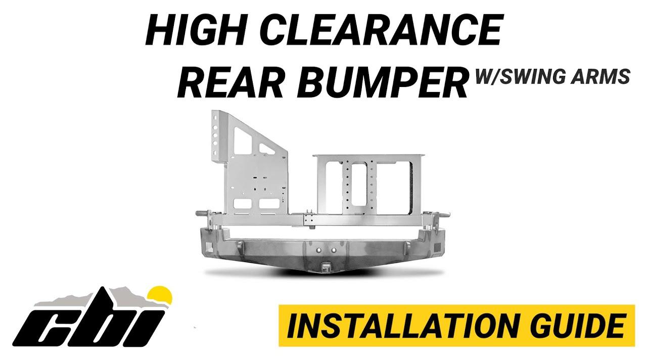 CBI INSTALL: High Clearance Rear Bumper w/Swing Arms