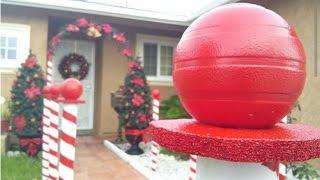 DIY Christmas Decoration - Candy Cane Lane
