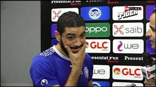 ستاد مصر - لقاء ما بعد المباراة مع إبراهيم جلال لاعب أسوان ومسجل هدف اللقاء: فوزنا على بطل إفريقيا