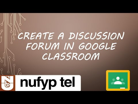 Create a Discussion Forum in Google Classroom