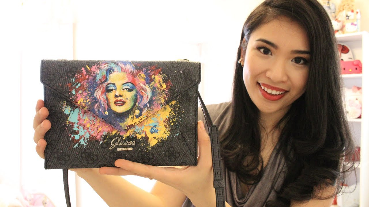 2f530d2f02 Marilyn Monroe Live Painting on Guess Handbag - YouTube