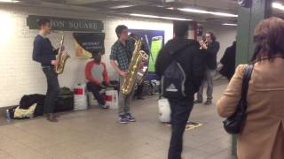 Subway musicians at the Union Square subway stop