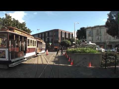 San Francisco Cable Car - Entire Trip From Fisherman's Wharf To Market Street