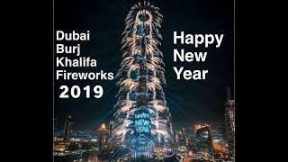 Dubai new year fireworks 2019 Burj khalifa