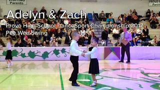 Adelyn Purcell & Zach Wakefield | Pee Wee Swing | Provo High School DanceSport 2017