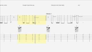 Eagles - Hotel California - Easy Guitar Duet