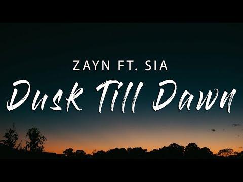 ZAYN Ft - Dusk Till Dawn (Lyric / Wjx Remix)