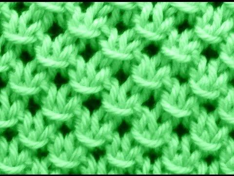 Como tejer punto fantas a en relieve 2 agujas 109 - Puntos de dos colores a dos agujas ...