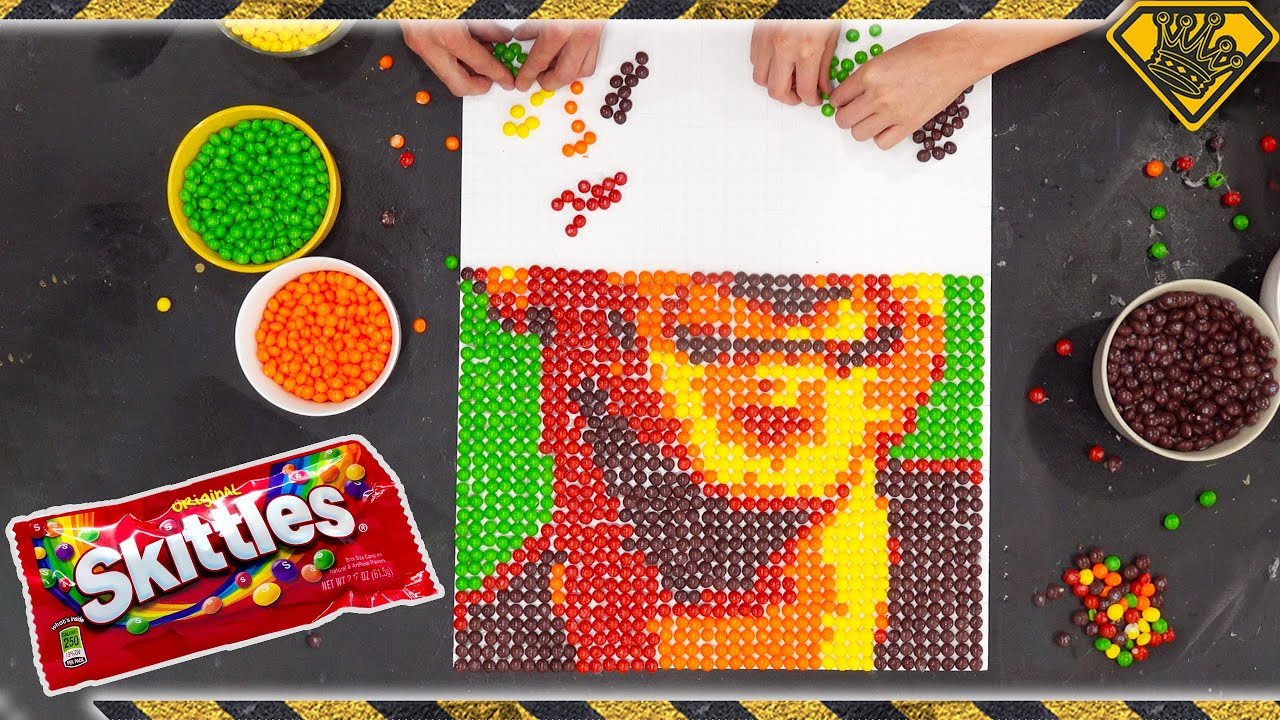 Make Pixel Art Portraits With SKITTLES