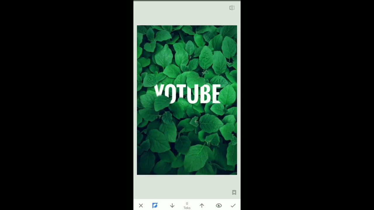 Cara edit teks dibelakang objek#snapseed - YouTube