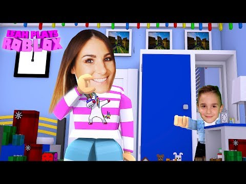 ROBLOX Little Leah Plays - MEEP CITY BABY BROTHER PRANK REACTION!!