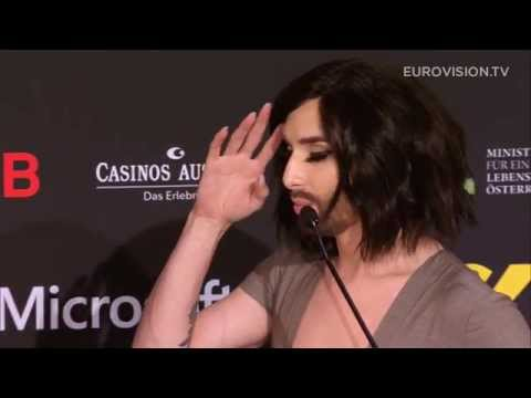 Conchita's press conference in Vienna